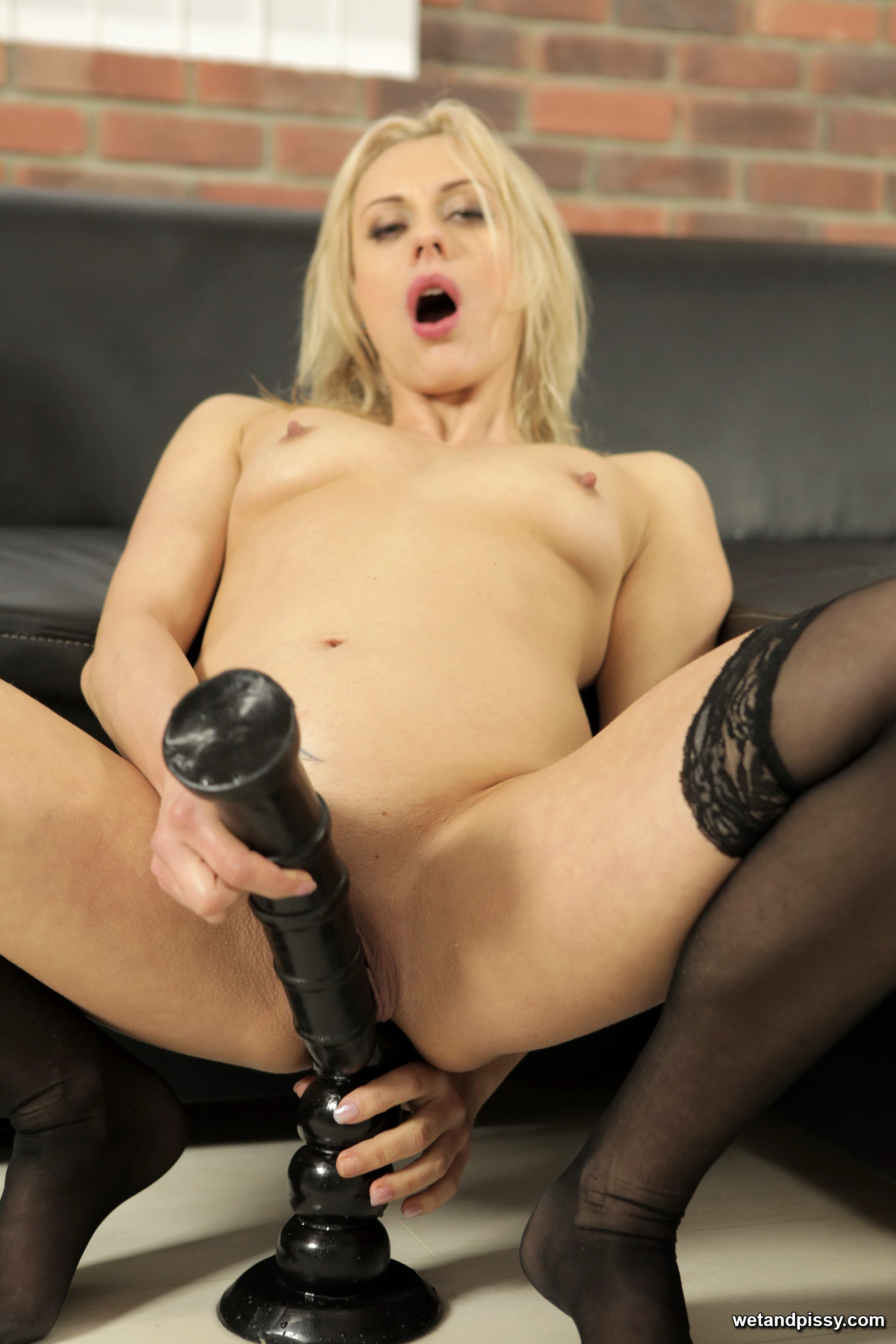 She looks Babe playing with dildo