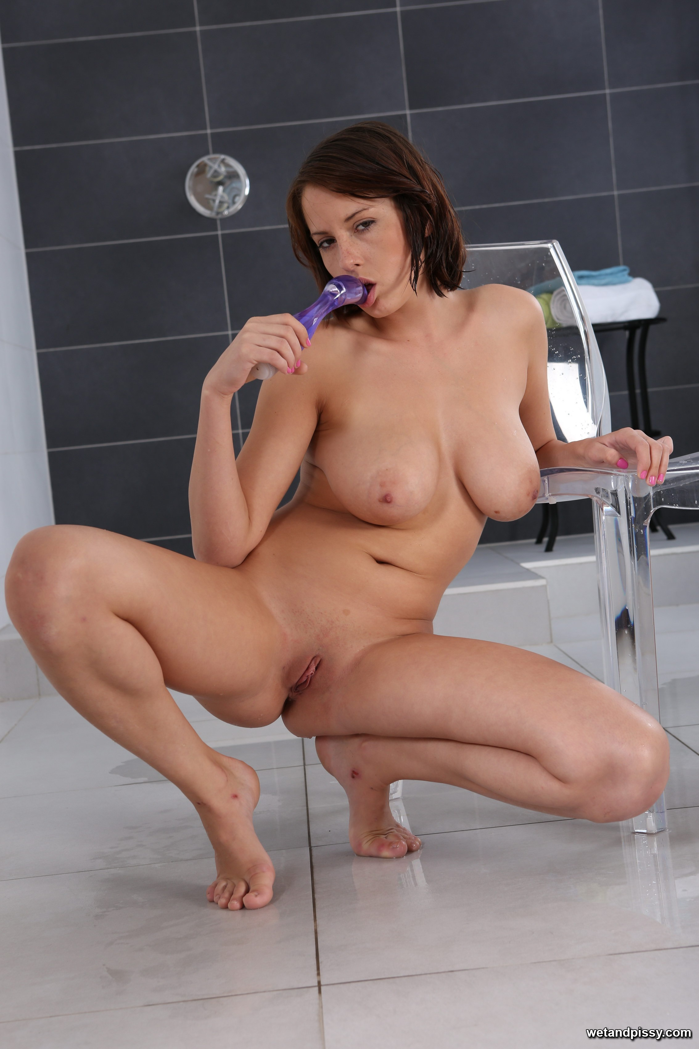 image Big tits shaved pussy dick sucking
