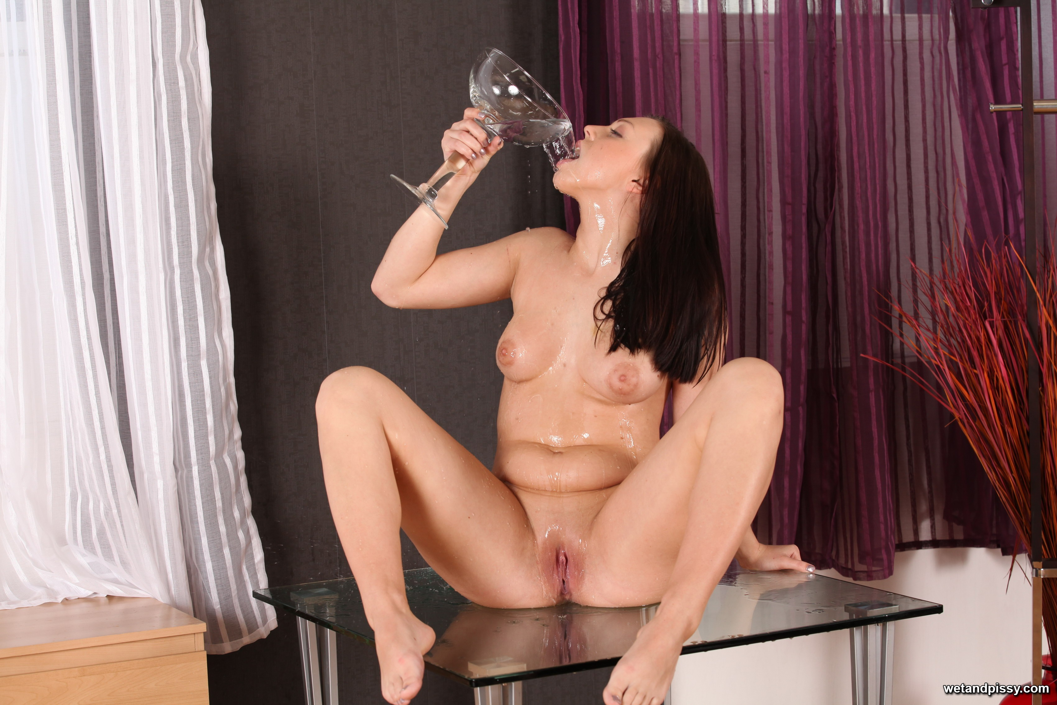 Becky clothed erotic pee