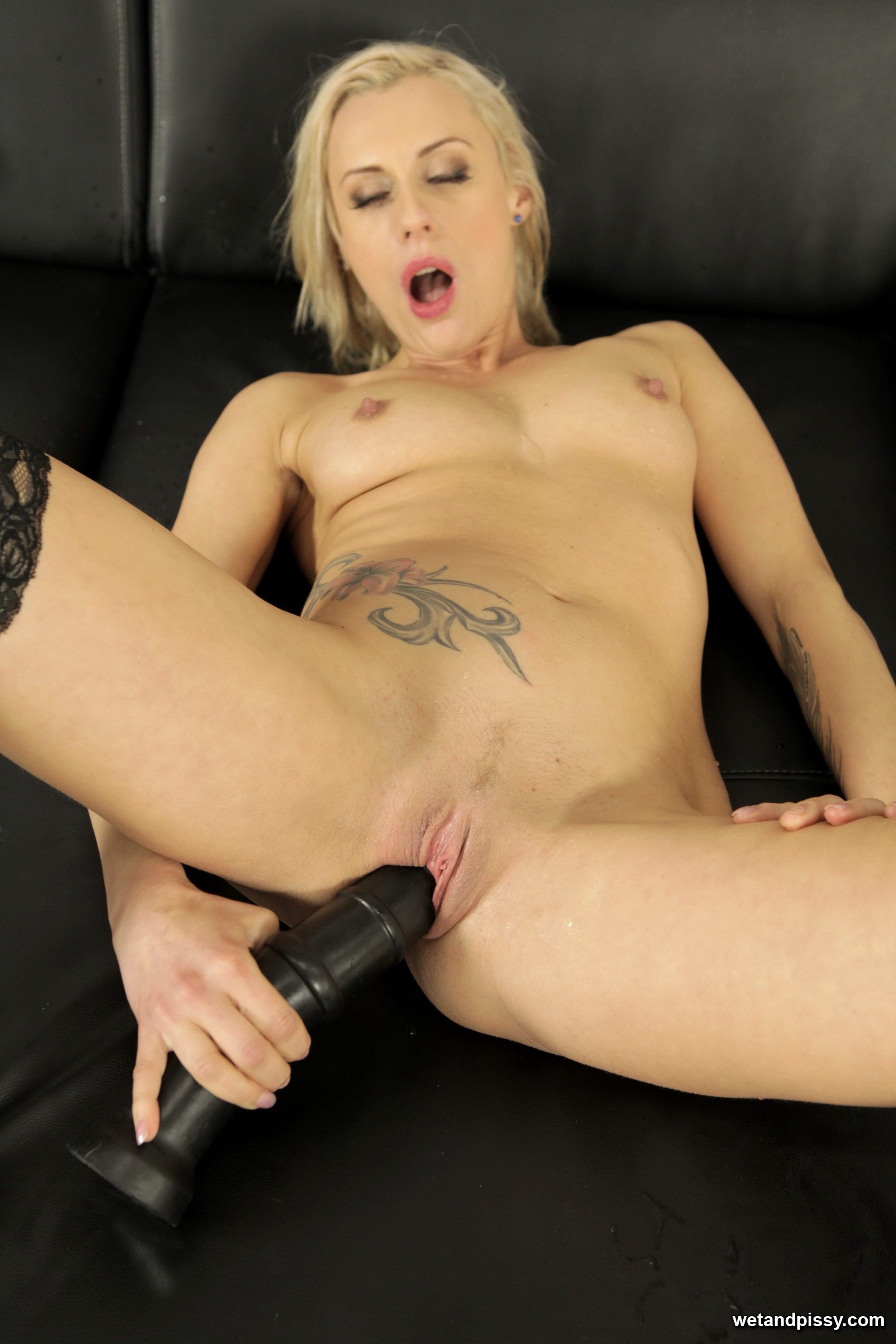Hot blonde has her turn at riding cock with this lucky guy 1