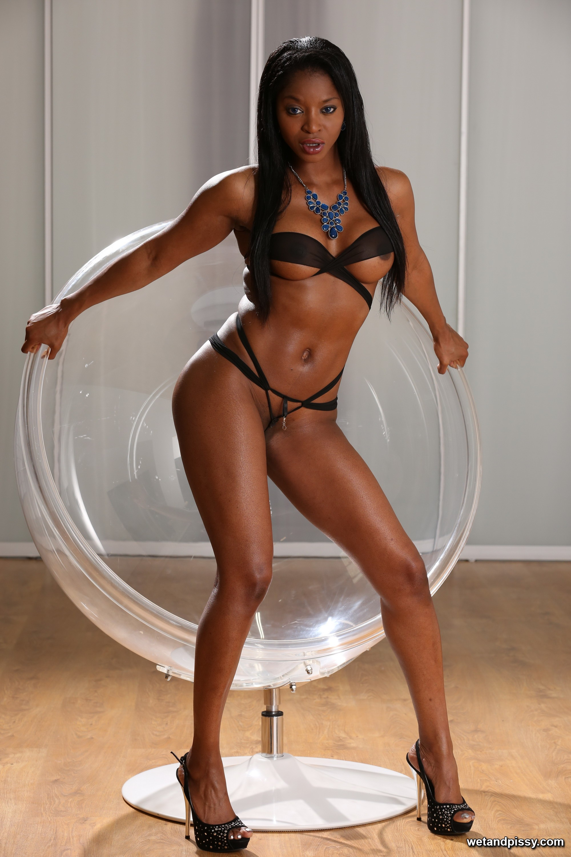 image Anya ivy loves to show her big black boobs