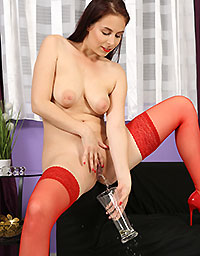 Wet And Puffy Set Antonia In Red