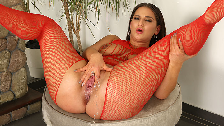 Porn Video Fingers and Fishnet
